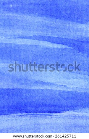 Cobalt Blue Hue Watercolor Background 7 - stock photo