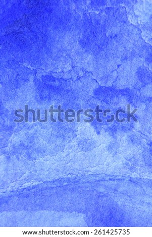 Cobalt Blue Hue Watercolor Background 3 - stock photo