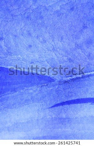 Cobalt Blue Hue Watercolor Background 6 - stock photo