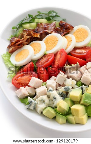 cobb salad - stock photo