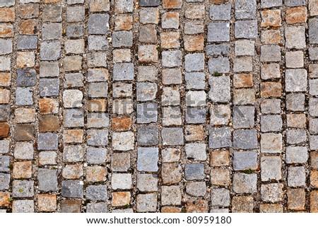 cobble stone path - stock photo