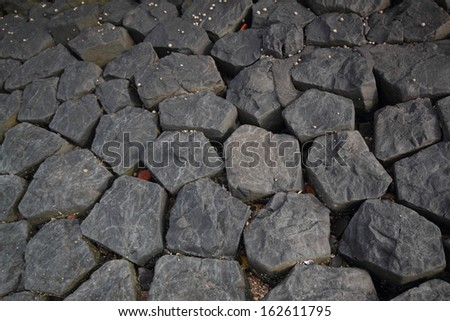 cobble stone pavement backgroud - stock photo