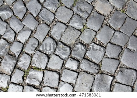 Cobble stone pavement in Germany