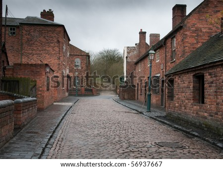 Cobbled Street - stock photo