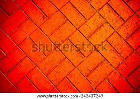 cobbles in the form of bricks