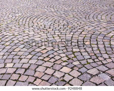 cobblestone - stock photo