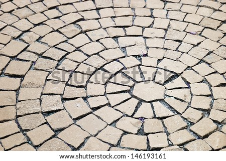 cobblestone pavement on a square