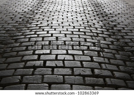 Cobblestone path stock photos royalty free images for Cobblestone shutters
