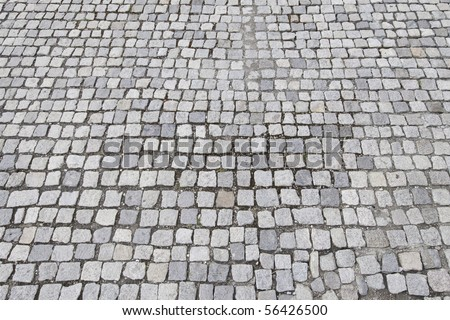 cobblestone surface - stock photo