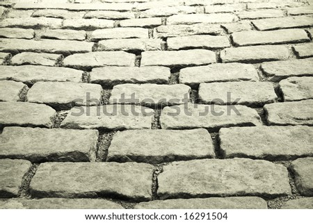 cobblestones background , Old port in Quebec - stock photo