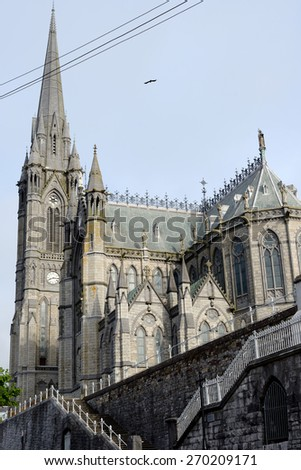cobh cathedral in county cork ireland - stock photo