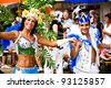 COBURG, GERMANY - JULY 10: Unidentified samba dancers participates at the annual samba festival in Coburg, Germany on July 10, 2011. - stock photo