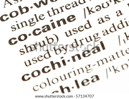 cocaine - stock photo