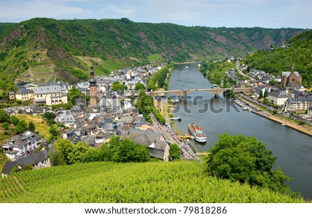 Cochem city on the banks of the river Mosel In Germany is popular by tourists. - stock photo