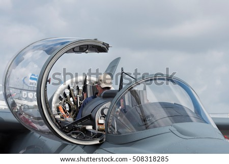 cockpit of military aircraft