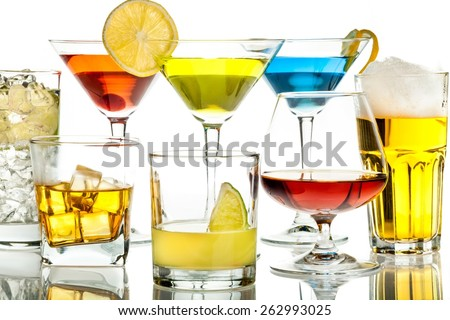 Cocktail, Alcohol, Drink. - stock photo