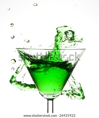 Cocktail and creative splashing