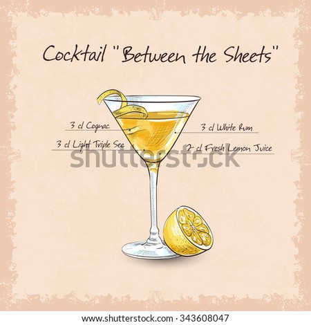 Cocktail Between Sheets Alcohol Drink Light Stock ...
