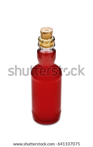 Cocktail bottle isolated on white background