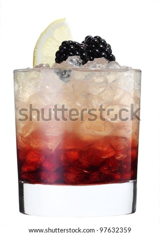 Cocktail bramble - stock photo