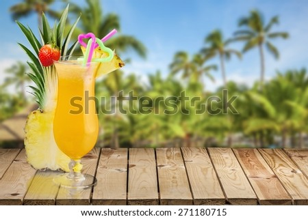 Cocktail. Cocktails Collection - Pina Colada - stock photo