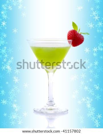 Cocktail drink on fruit - stock photo