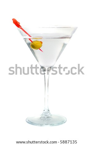 Cocktail from martinis. Isolation on white