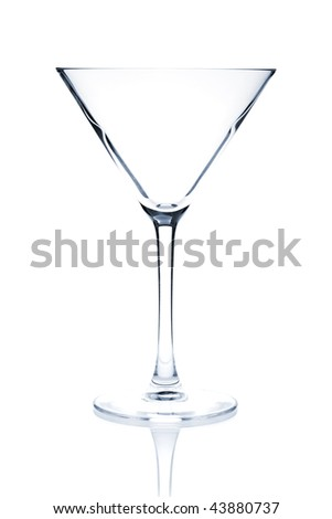 Cocktail Glass Collection - Martini. Isolated on white background - stock photo