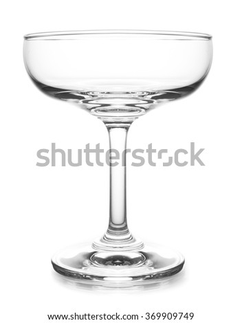 cocktail glass isolated on white background - stock photo