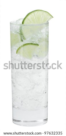 Cocktail gordon's G&T - stock photo