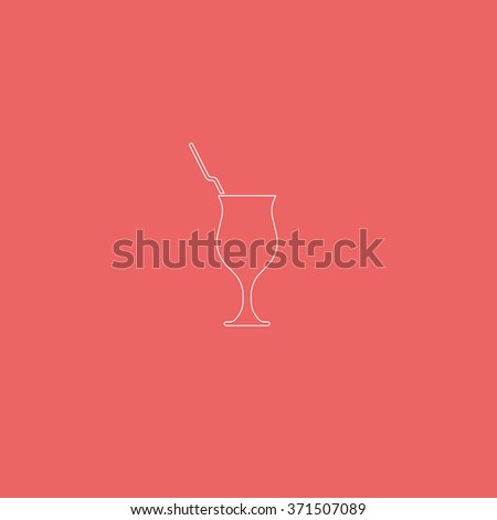Cocktail illustration. Glass icon. - stock photo