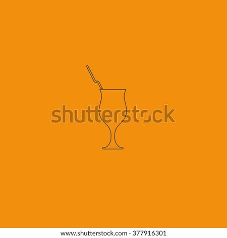 Cocktail illustration. Glass icon. - stock photo