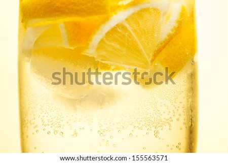 Cocktail in a glass isolated on a white background  - stock photo