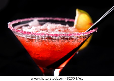 Cocktail in glass - stock photo