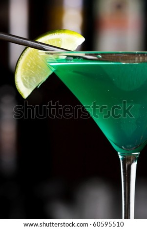 cocktail in the bar - stock photo
