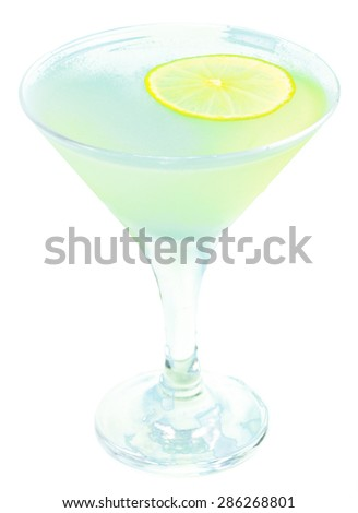 Cocktail isolated - stock photo