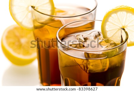 Cocktail Long Island Ice tea close up - stock photo