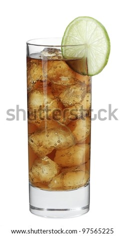 Cocktail Malibu Cola - stock photo