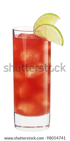 Cocktail malibu sea breeze - stock photo