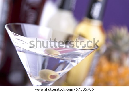 Cocktail Martini in a cocktail coupe - stock photo
