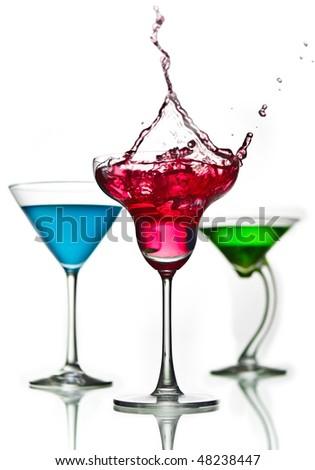 cocktail mix splash - stock photo