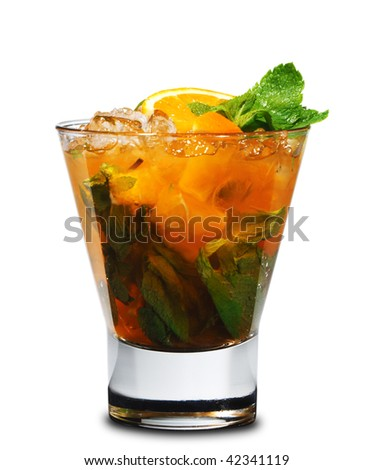 Cocktail - Mojito with Orange and Mint