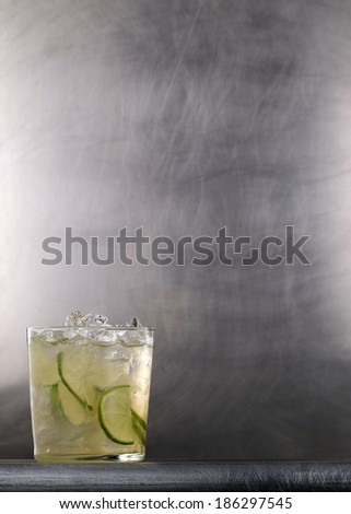 cocktail on a metal background - stock photo