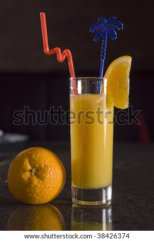 cocktail on bar - stock photo