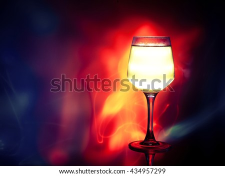 Cocktail on the abstract background