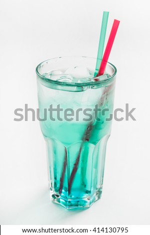 cocktail on the white background - stock photo