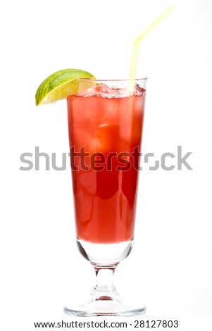 Cocktail over white background