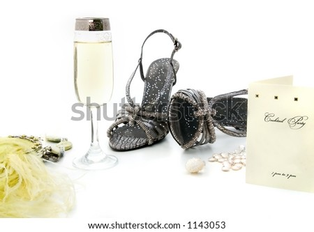 Cocktail party preparation - stock photo