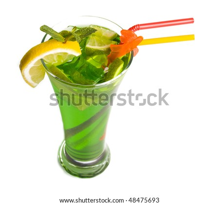 Cocktail photo in a glass