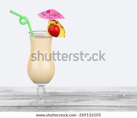 Cocktail. Pina colada cocktail - stock photo